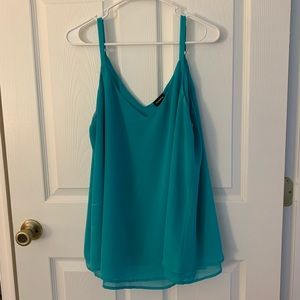 Turquoise swing cami